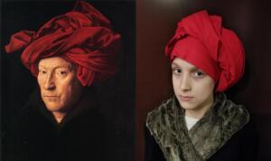 Mężczyzna w czerwonym turbanie Jan van Eyck